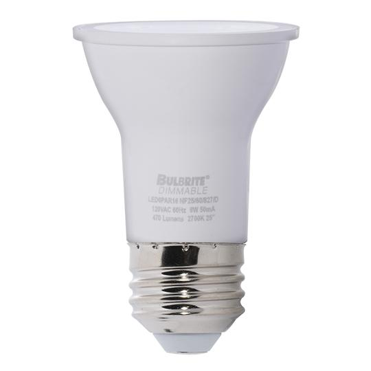 Bulbrite 771411 6 Watt PAR16 LED White Narrow Flood Dimmable