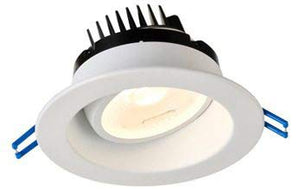 Lotus LED Lights - 4 Inch Regressed - Gimbal LED Downlight - 20 Degree Tilt - 360 Degree Rotation