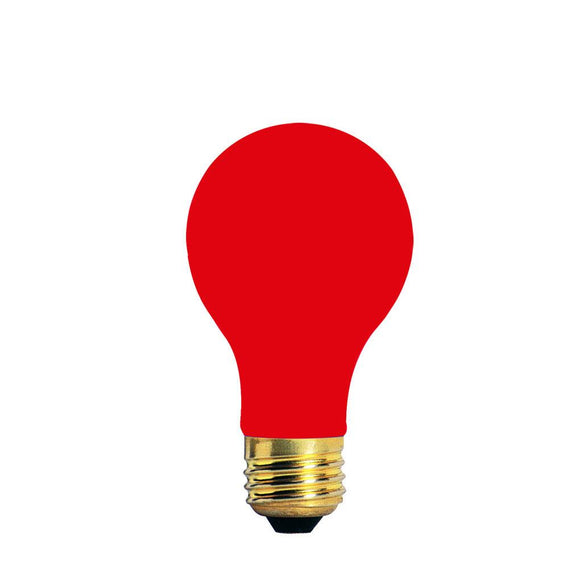 Bulbrite 106740 40 Watt A19 Incandescent Ceramic Red Party Bulb