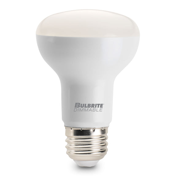 BULBRITE 772815 7.5 Watt R20 LED - E26 Medium Base - 3000 Kelvin Warm White - 525 Lumens - Dimmable - Frost - 120 Volt