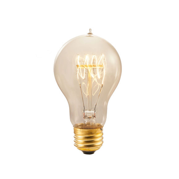Bulbrite 134020 40 Watt A19 Incandescent White Nostalgic Loop