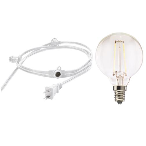 Bulbrite 810072 Fixtures G16 Globe String Lights
