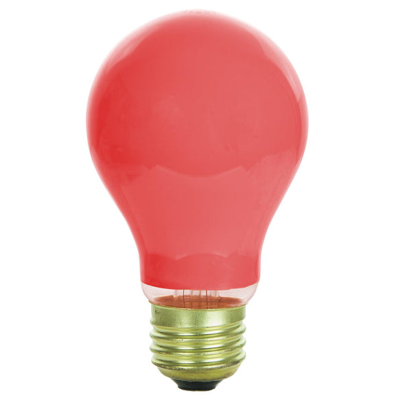 Incandescent - A19 Colored - 60 Watt -Red - Red