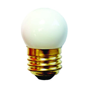 Bulbrite 702007 7.5 Watt S11 Incandescent White Ceramic White