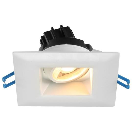 Lotus LED Lights - 3 Inch Square Regressed - Gimbal LED Downlight - 38 Degree Beam Angle with 20 Degree Tilt and 360 Degree Rotation