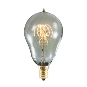 Bulbrite 152516 25 Watt A15 Incandescent Smoke Loop Nostalgic