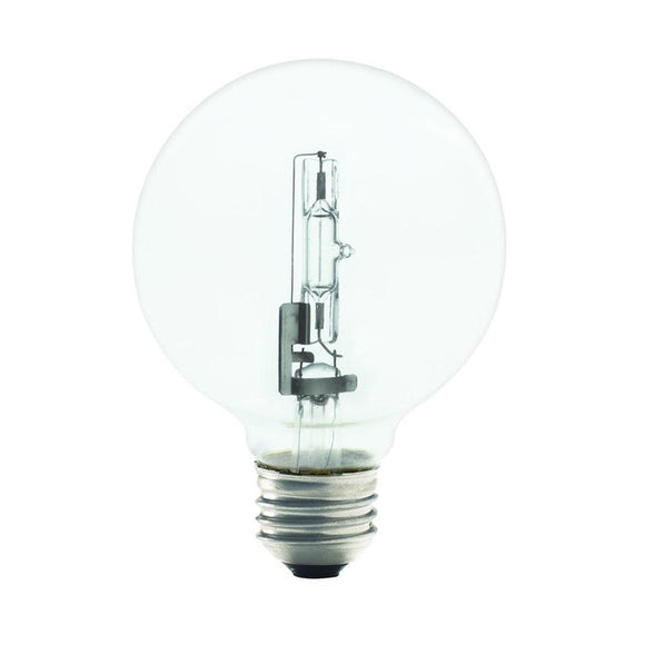 Bulbrite 616443 43 Watt G25 Halogen White Globe