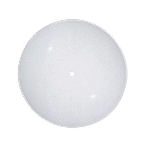 Satco 50/200 Fixtures Accessories Deep Diffuser Shade, 14 inch Diameter, 2-1/2 inch Depth, Regular Bend Glass, White, Sunburst Pattern