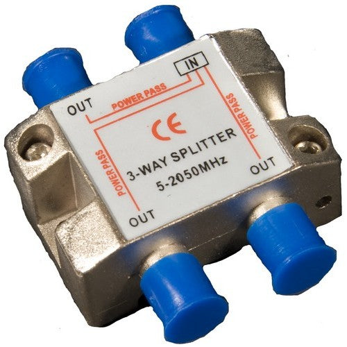 Morris Products 45044 3 Way Satel Splitter 5-2050Mhz