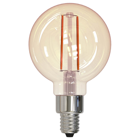BULBRITE 776806 2.5 Watt G16 Filament Nostalgic - E12 Candelabra Base - 2200 Kelvin Warm White - 160 Lumens - Antique - 120 Volt