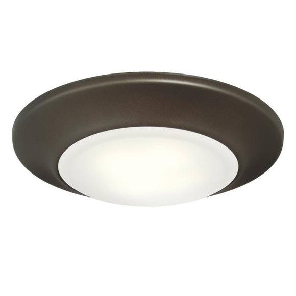 Westinghouse 6322000 Small LED Surface Mount Oil Rubbed Bronze Finish with Frosted Lens - Dimmable