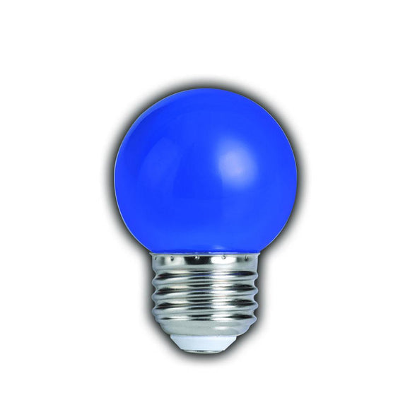 Bulbrite 770151 1 Watt G14 LED Blue Globe