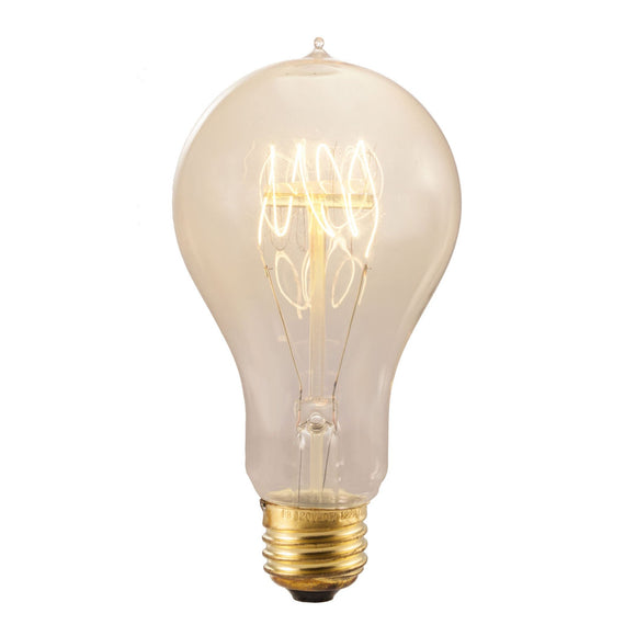 Bulbrite 132540 25 Watt A23 Incandescent White Nostalgic Loop