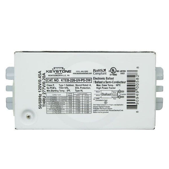 Keystone KTEB-226-UV-PS-DW - (2) Lamp Fluorescent Ballast
