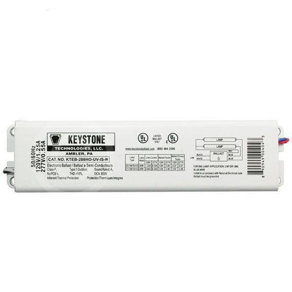 Keystone KTEB-286HO-UV-IS-N - (2) Lamp Fluorescent Ballast