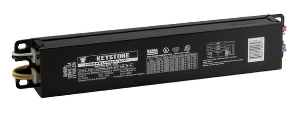 Keystone KTEB-332-UV-PS-N-P - (3) Lamp Fluorescent Ballast