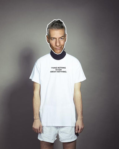 "Tshirt Giovanni Vernia, ""I've nothing to say"" collaboration with MONEO"