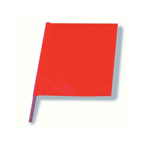 "Signal Warning Flag (18"" x 18"") Red on Orange"