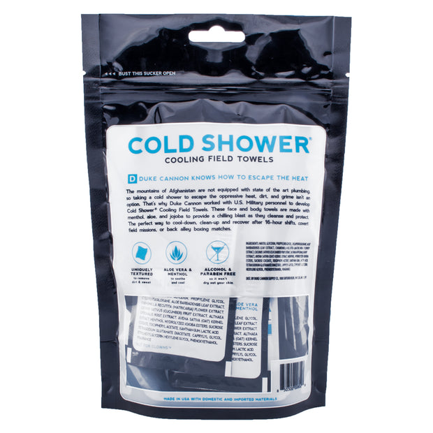 Cold Shower Cooling Field Towels Multipack Pouch 1