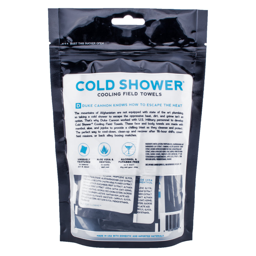 Cold Shower Cooling Field Towels Multipack Pouch