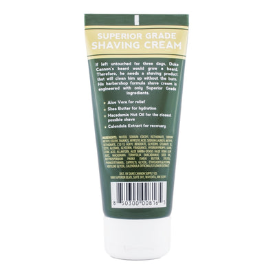 Superior Grade Shaving Cream - Travel Size