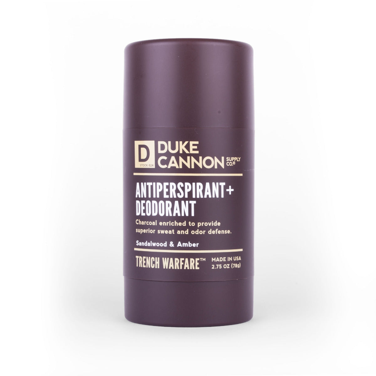 Trench Warfare Antiperspirant + Deodorant - Sandalwood & Amber