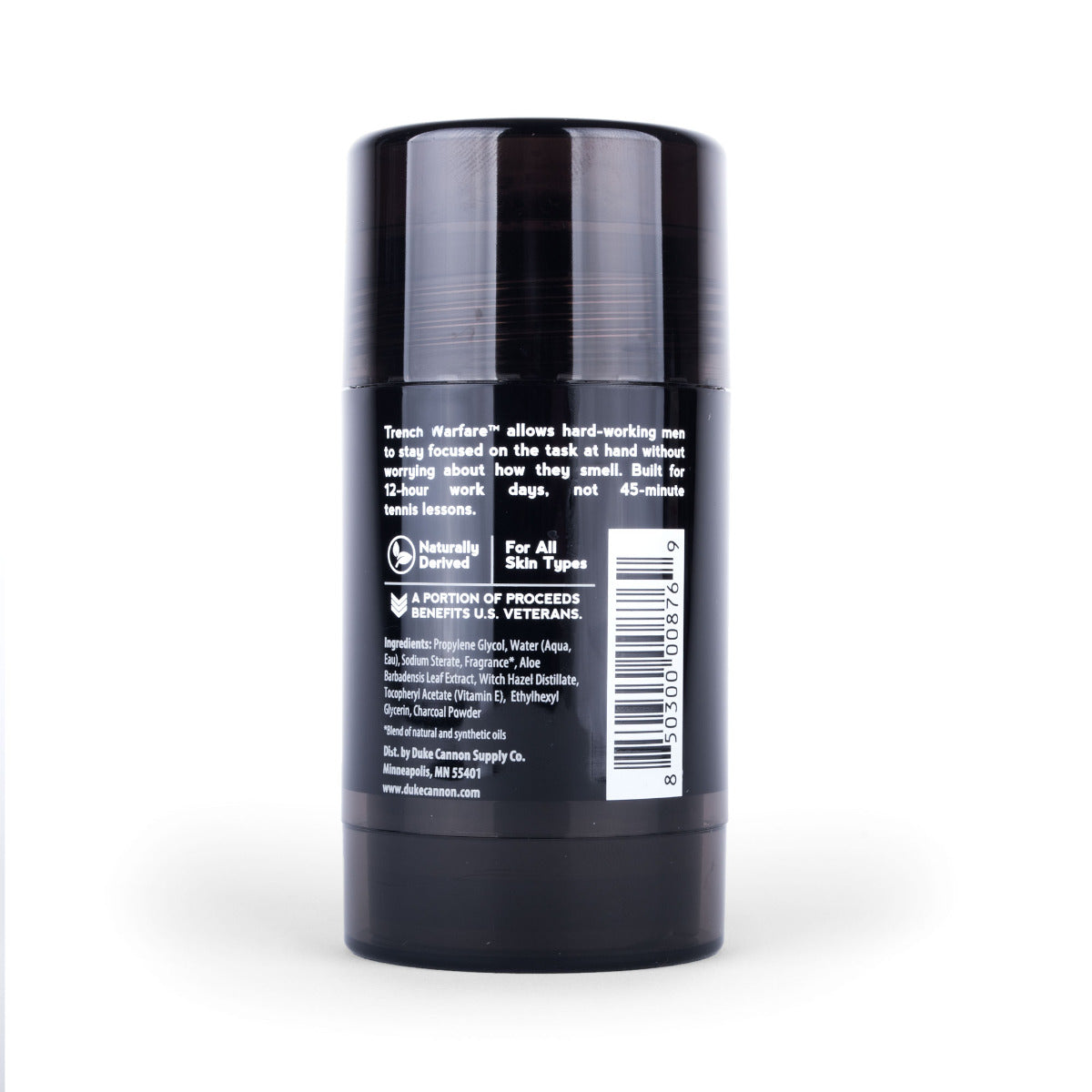 Trench Warfare Natural Charcoal Deodorant - Bergamot & Black Pepper