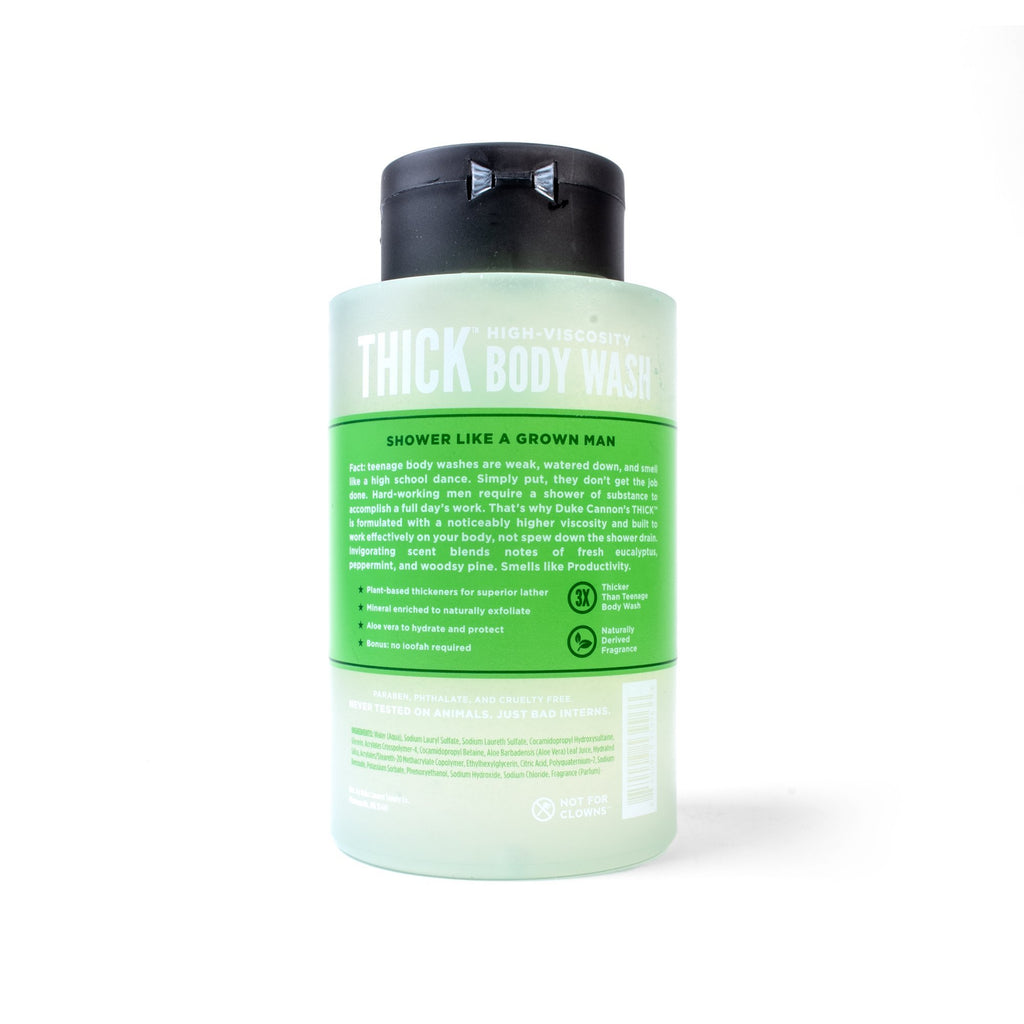 THICK High-Viscosity Body Wash - Productivity - Duke Cannon