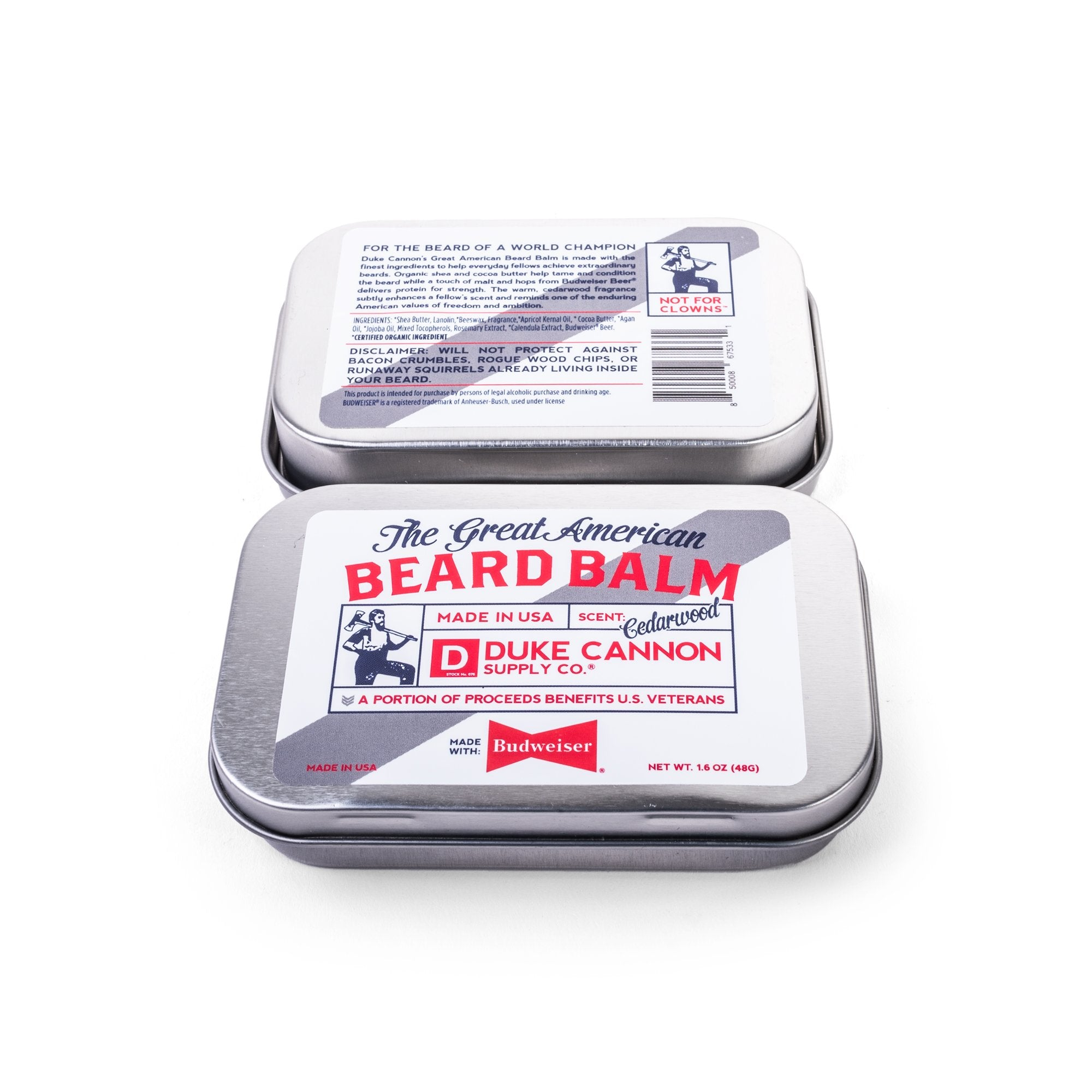 Great American Beard Balm - Made with Budweiser - Duke Cannon