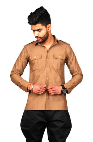 Brown Colour Hunting Shirt