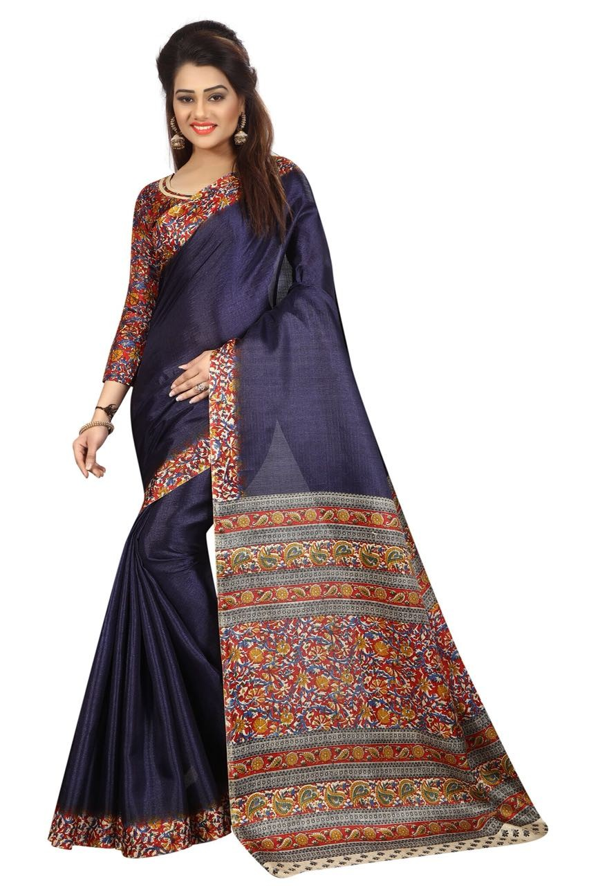 Kalamkari 5 Navy Saree K005