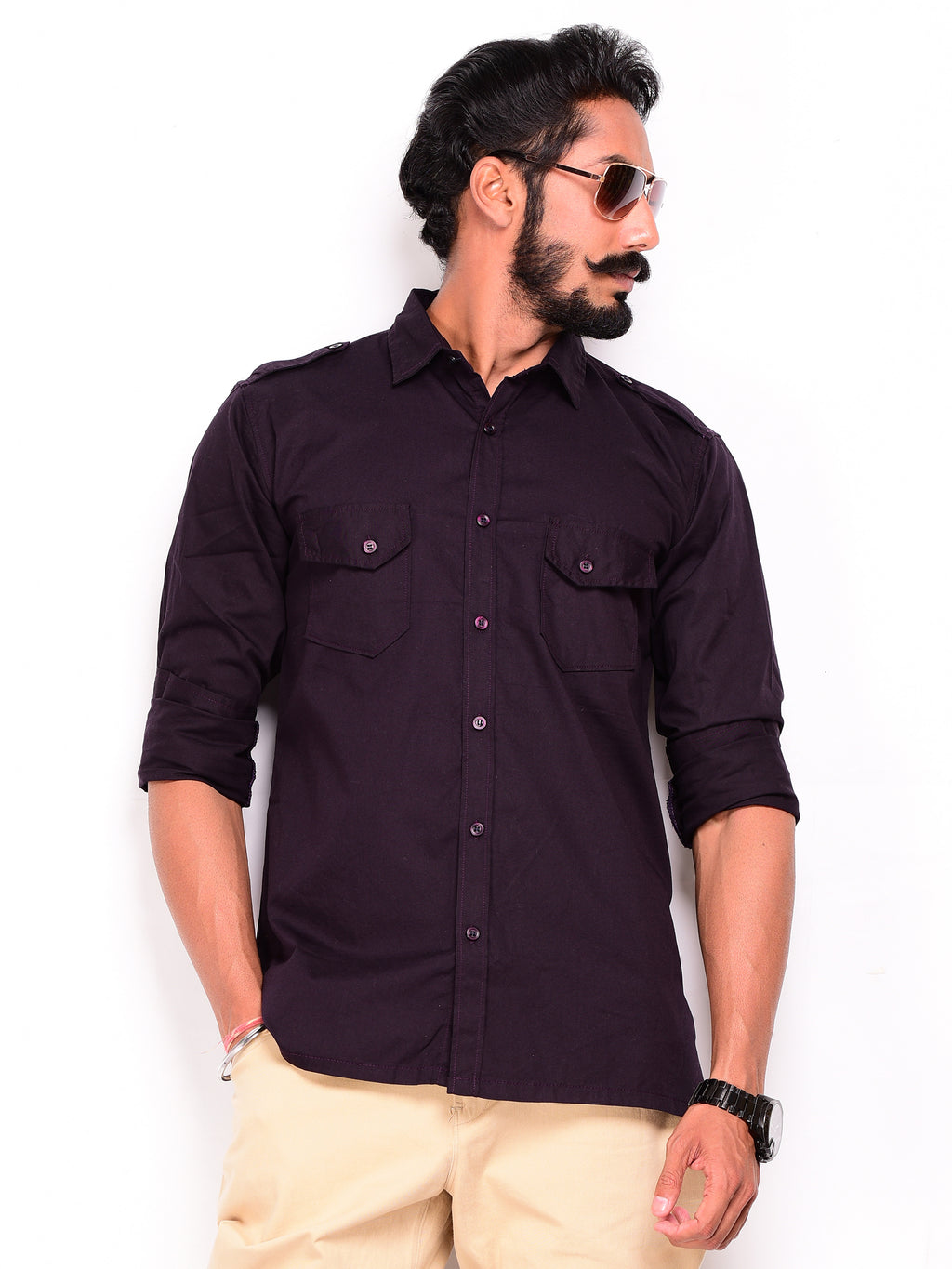 Raisin Purple Hunting Shirt