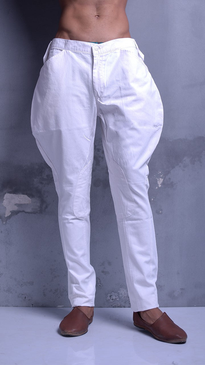 White Colour Mens Breeches