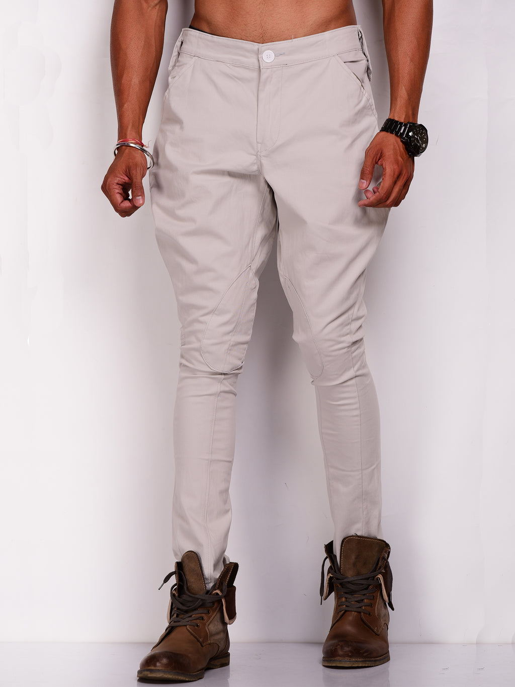 Pearl Grey Men's Breeches