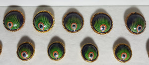Embossed Feather Buttons