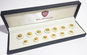 White Surya Buttons