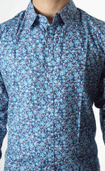 Blue Colour Printed Shirt
