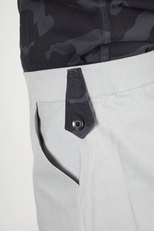 Grey Breeches with Black Camouflage Patch
