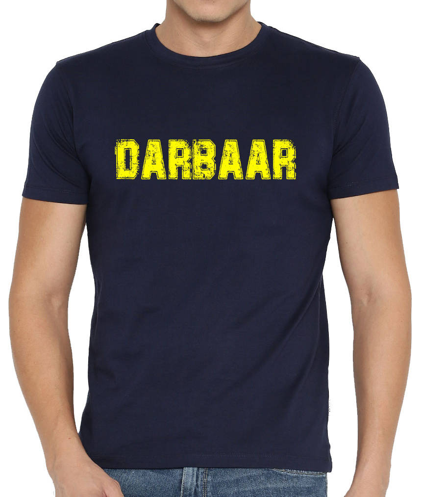 DARBAAR PRINTED BLUE T-SHIRT