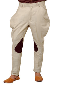 Fawn Colour Breeches with Coffee Brown Colour Patch