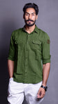 Mehendi Green Casual Shirt