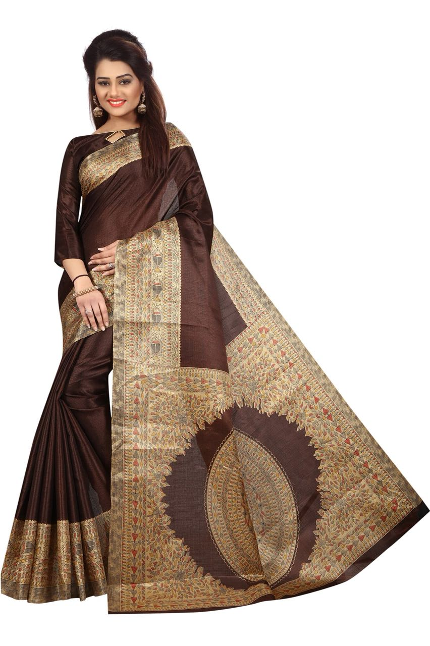 Kalamkari Coffee Colour Saree K021