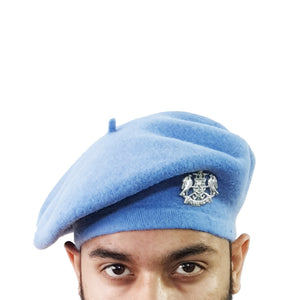 Light Blue Color Woolen Beret