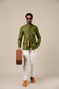 Pear Green Jodhpuri Jacket with Trouser
