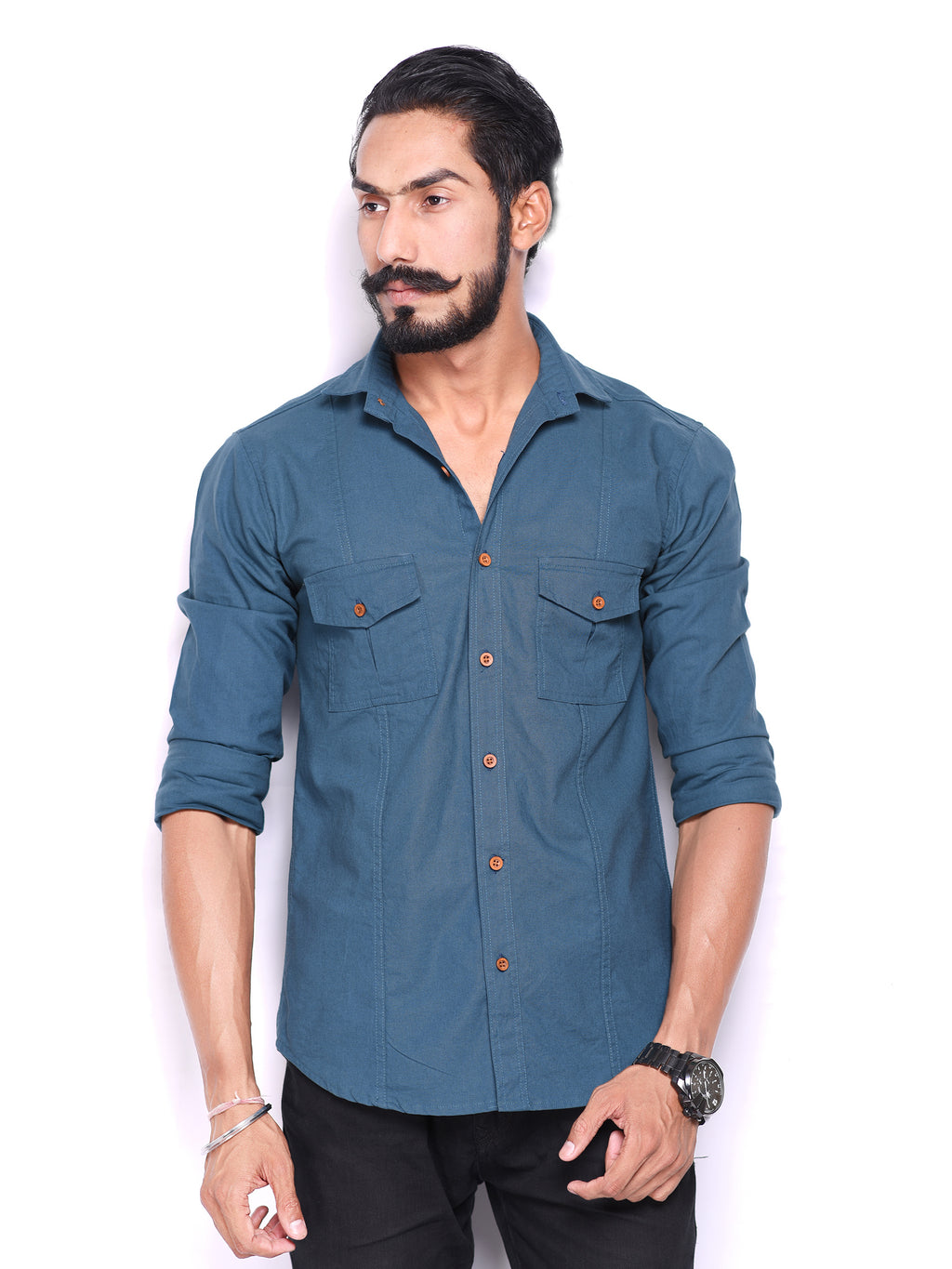 Aegean Blue Semi-Hunting Shirt