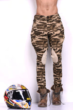 Khakhi Camouflage Print Stretchable Breeches