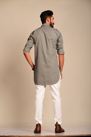 Grey Colour Kurta Pajama