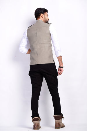 Four Pocket Light Grey Semi Hunting Jacket
