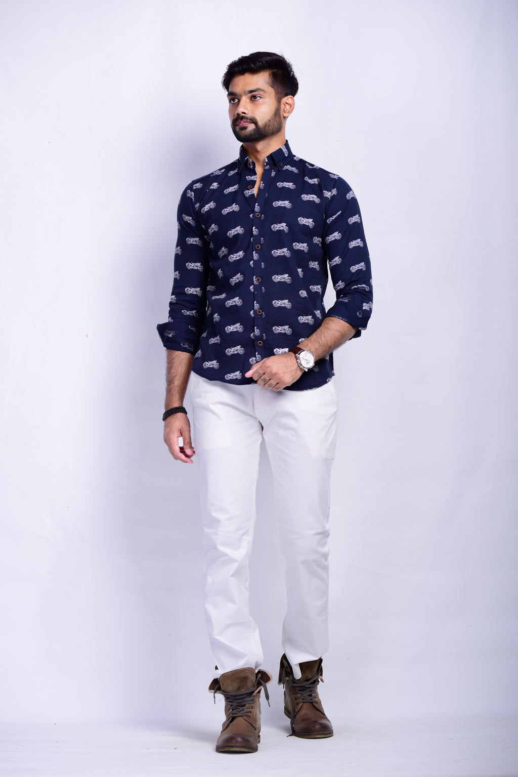 RE Bullet Printed Sanganeri Shirt
