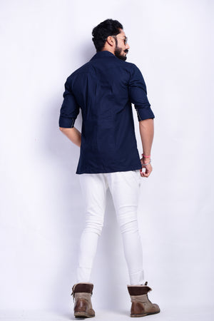Navy Blue Hunter Shirt